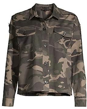 ATM Anthony Thomas Melillo Women's Camouflage Crop Boxy Jacket