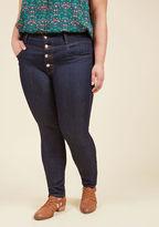 ModCloth Karaoke Songstress Jeans in Dark Wash - 1X-3X in 1X
