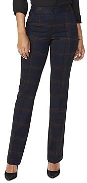 NYDJ Petites High-Rise Plaid Pants - 100% Exclusive