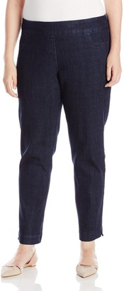 Slim Sation SLIM-SATION Women's Wide Band Regular Length Pull-On Straight Leg Pant with Tummy Control