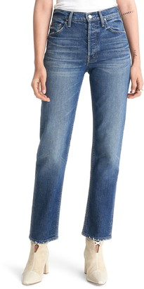 Mother The Tomcat High Waist Straight Leg Ankle Jeans