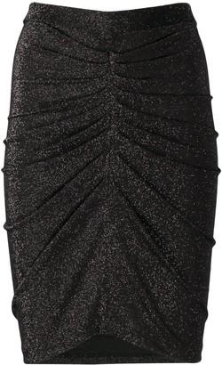 IRO Sargas metallic mini skirt