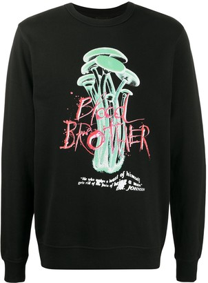 Blood Brother Wolfe graphic-print sweatshirt