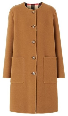 Burberry Tisbury Wool-Blend Button Coat