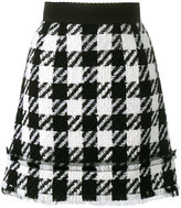 Dolce & Gabbana houndstooth skirt - women - Cotton/Nylon/Spandex/Elastane/Virgin Wool - 44