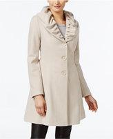 T Tahari Ruffled Skirted Walker Coat