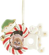 Lenox Furry Christmas Cat Frame Ornament