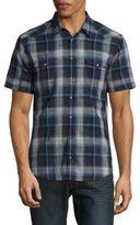 HUGO BOSS Snap Button Short Sleeved Sportshirt