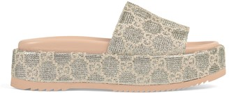 Gucci Women's GG lame slide sandal