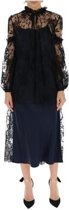 Alexander McQueen Sheer Lace Midi Dress