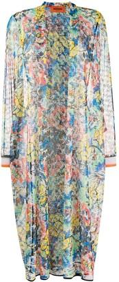 Missoni Floral-Pattern Cardi-Coat