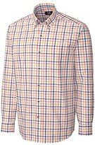 Cutter & Buck Men's Long Sleeve Clyde Hill Plaid Shirt