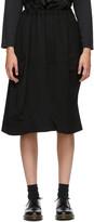 Thumbnail for your product : Comme des Garçons Comme des Garçons Black Wool Midi Skirt
