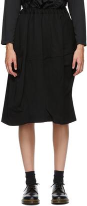 Comme des Garçons Comme des Garçons Black Wool Midi Skirt