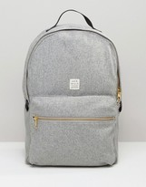 Jack Wills Backpack In Grey Wool