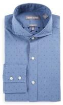 Michael Bastian Men's Trim Fit Diamond Dobby Dress Shirt
