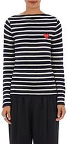 Comme des Garcons Women's Striped Wool Sweater-NAVY