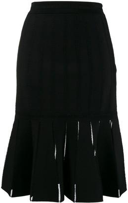 Alexander McQueen Pleated Midi Skirt
