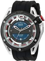 Elini Barokas Men's 'Master Ghost' Swiss Quartz Stainless Steel and Silicone Watch, Color:Black (Model: 20016-03-BB)