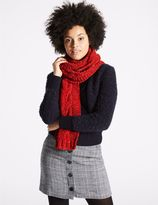 Marks and Spencer Cable Chenille Scarf
