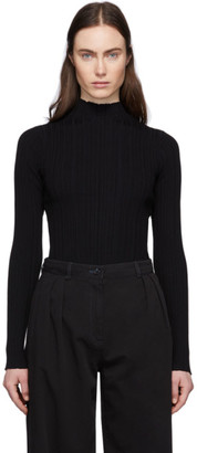 Acne Studios Black Ribbed Turtleneck