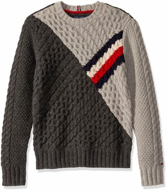 Tommy Hilfiger Men's Rivington Crew Neck Wool Sweater