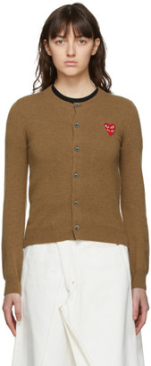 Comme des Garcons Brown Layered Heart Cardigan