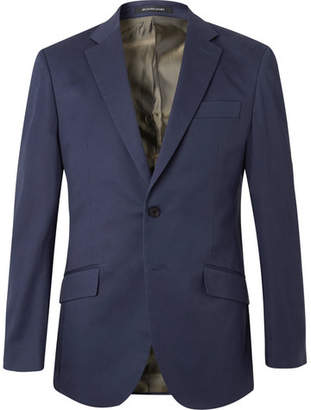 Richard James Navy Stretch-Cotton Twill Suit Jacket