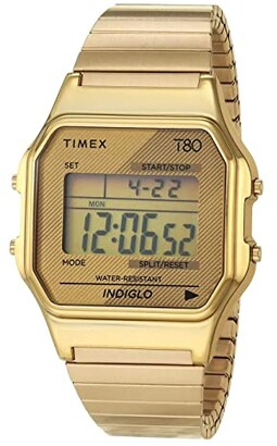 Timex 34 mm T80 (Gold/Gold/Gold) Watches