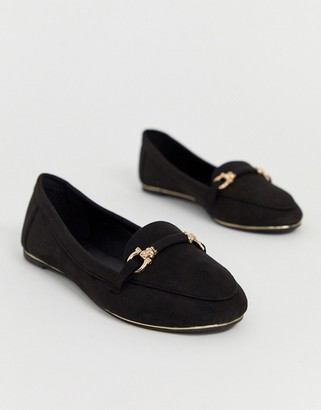 Park Lane flat trim loafers-Black