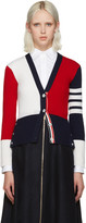 Thom Browne Tricolor Cashmere Cardigan