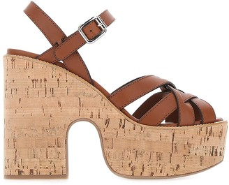 Miu Miu Cork Heeled Sandals