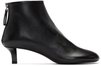 Jil Sander Black Leather Heeled Boots