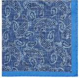 Fairfax Men's Reversible Paisley Silk Pocket Square