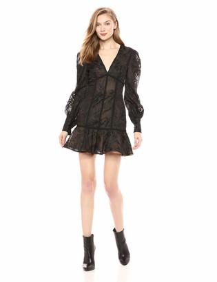 Keepsake Women's Wonderland Longsleeve LACE Flared Dress