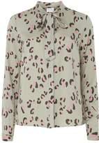 Vila **Vila Leopard Print Long Sleeve Shirt