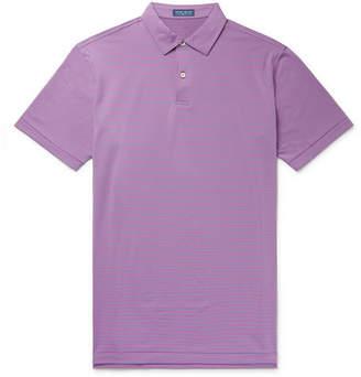 Peter Millar Coltrane Striped Stretch-Jersey Polo Shirt