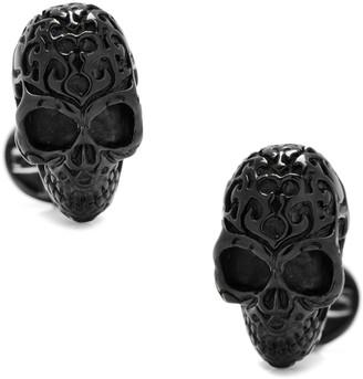 Cufflinks Inc. 3D Fatale Skull Cuff Links, Black