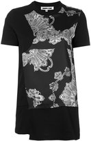 McQ by Alexander McQueen printed wrap detail T-shirt - women - Cotton/Polyester - XL