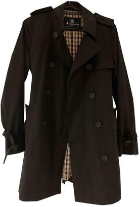 Aquascutum London Black Cotton Coat for Women
