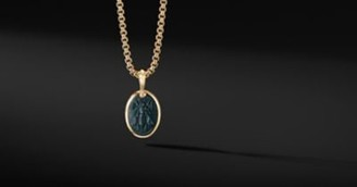 David Yurman Petrvs Bee Amulet In 18K Yellow Gold With Bloodstone
