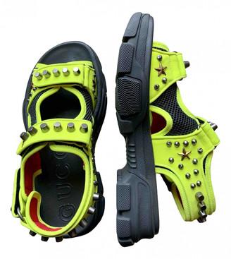 Gucci Yellow Cloth Sandals