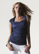 Ruched Shrug Top