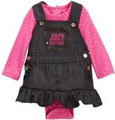 Juicy Couture Foil Dot Bodysuit & Denim Jumper Set (Baby Girls 0-9M)