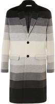 J.w.anderson - Dégradé Striped Wool Coat