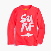 "J.Crew Girls' rash guard in ""surf"" and ""swim"""