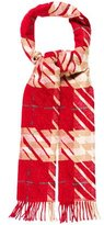 Burberry Check Metallic-Accented Scarf