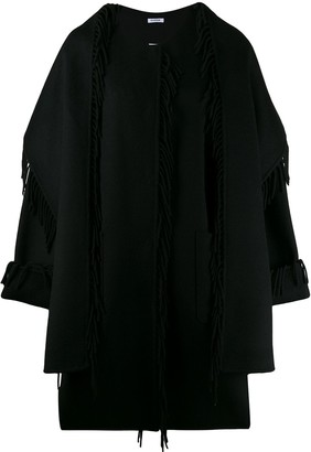 P.A.R.O.S.H. fringed loose fit coat