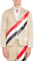 Thom Browne Tricolor-Striped Three-Button Blazer