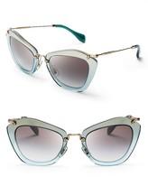 Miu Miu Geometric Glitter Sunglasses